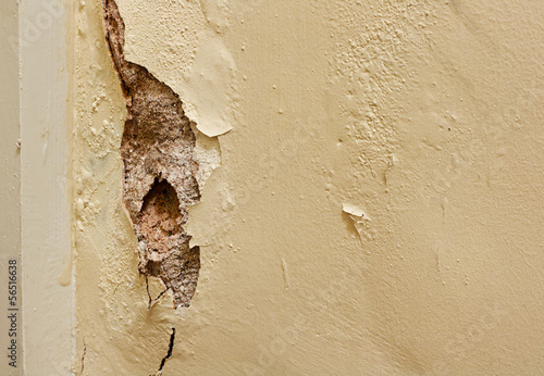 Foto op Canvas Wand Dry rot in interior wall