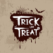 Halloween trick or treat message design