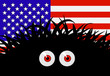Unknown threat to the United States of America - comic vector il