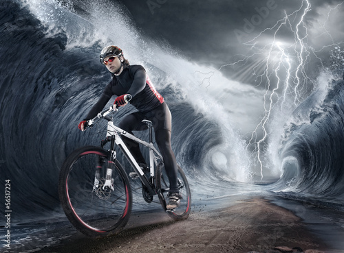 waves cyclist