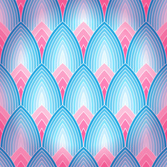 Seamless background with stylized lotus petals. Eps10