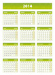 2014 green french calendar