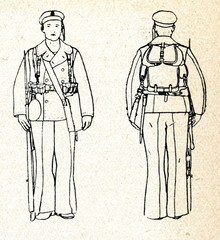 Battledress of sailor (ca. 1920, Latvia)