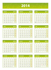 2014 green german calendar