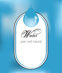 Water label with drop