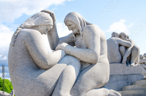 Womans sculpture at Frogner Park in Oslo Norway