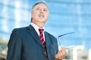 Mature businessman outdoor