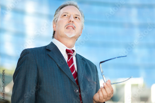 Mature businessman outdoor