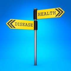 Health or Disease. Concept of Choice.
