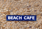 Beach cafe sign