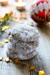 Chocolate crackle Christmas cookies