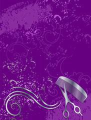 Edler Hintergrund für Beauty Salon in violett