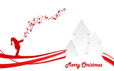 Weihnachtsmann mit Bäumen