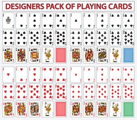 Pack of poker casino cards