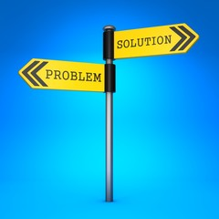 Problem or Solution. Concept of Choice.