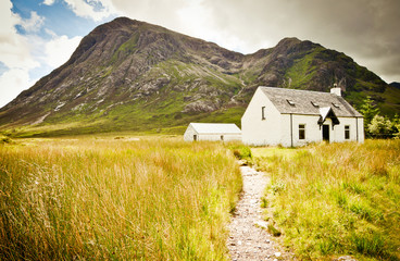 Cottage at glencoe in scotland