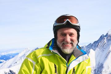 Portrait alpine skier.