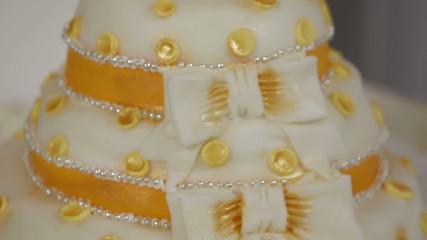 Beautiful wedding cake. Close-up