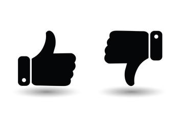 Like dislike thumbs up down
