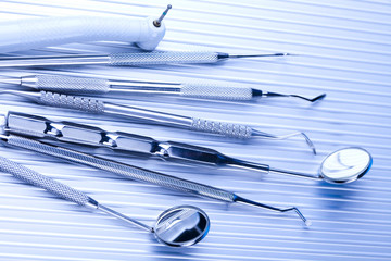 Close-up Dental Instruments