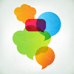 Colorful Vector Speech Bubbles