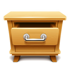 Wooden drawer illustration