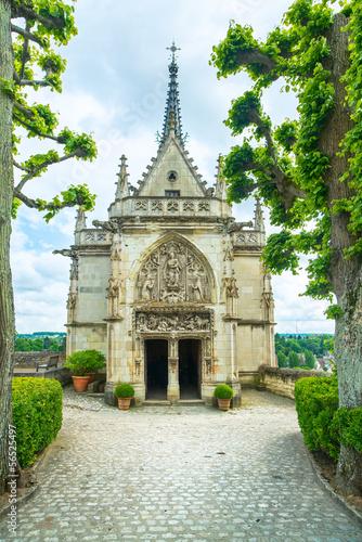 Poster Amboise, Saint Hubert chapel, Leonardo Da Vinci tomb. Loire Vall