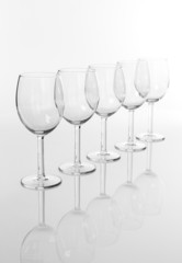 Empty wineglasses