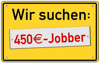 Mini-Job 450€ Schild  #130924-svg04