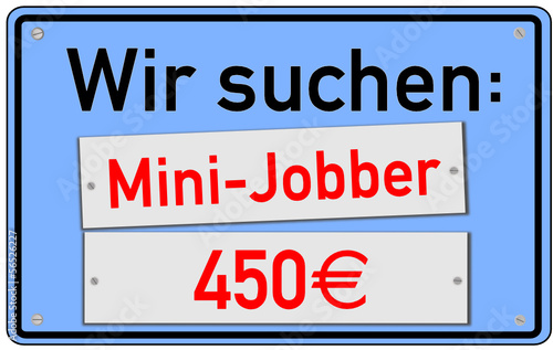 Mini-Job 450€ Schild  #130924-svg05