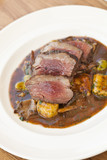 lamb sirloin with herbed gnocchi