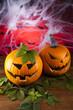 Spider web, Halloween pumpkin Jack