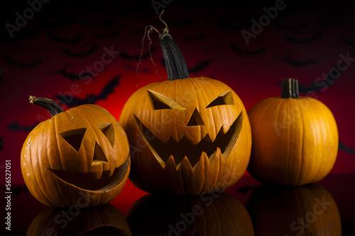 Halloween pumpkins in the Grass Bats