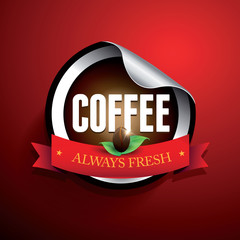 Coffee label vector sticker