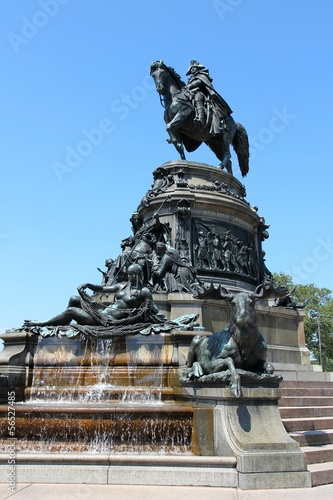 George Washington statue in Philadelphia, United States
