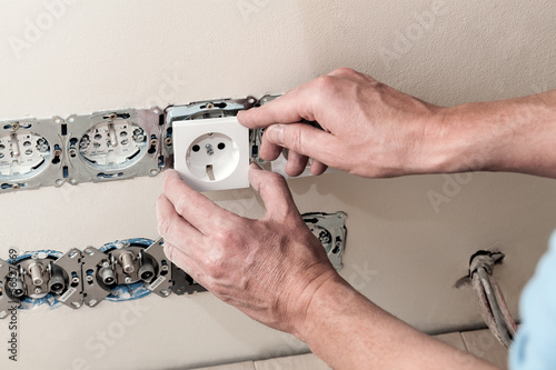 Putting cover on socket