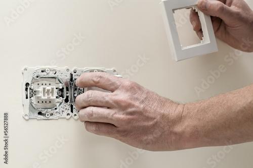 Finishing new house, light switch