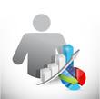 avatar and business graphs avatar illustration