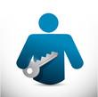 key to success icon illustration design