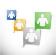 people message communication concept