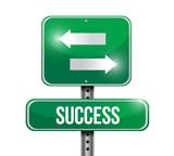 success road sign illustration