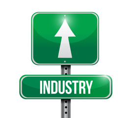 industry road sign illustration