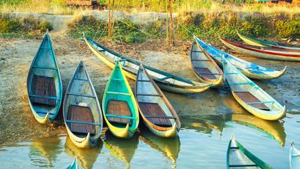 Beautiful Boats in Dam Nai Bay near Phan Rang, Vietnam