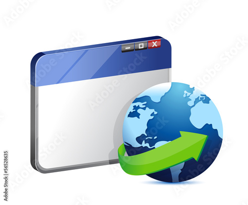 internet browser concept illustration