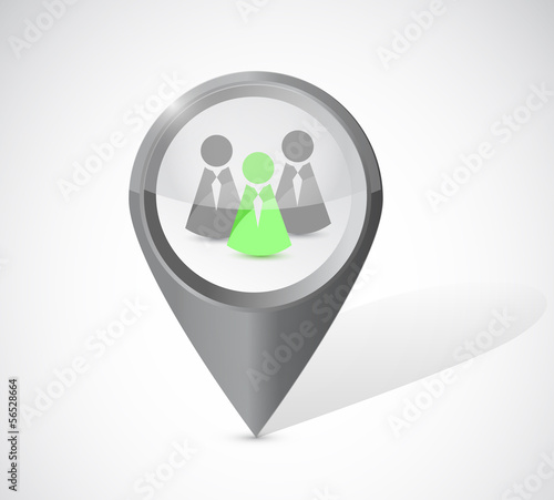 ideal candidate locator illustration design