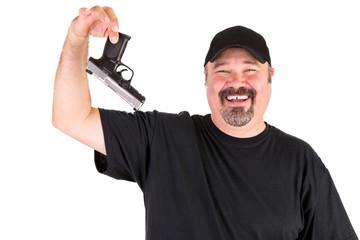 Man Surrender Holds His Gun Up Properly