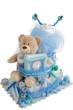 Isolated Baby Diaper Cake Present