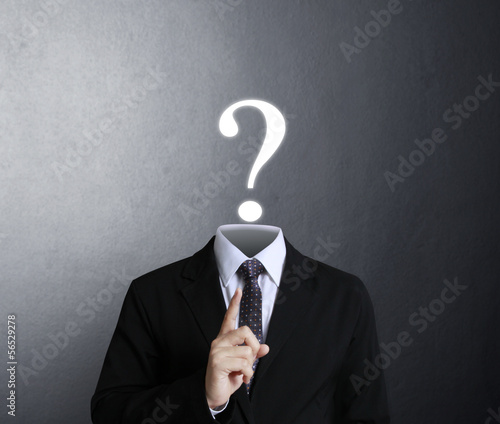 head instead of  question mark