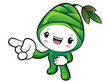 Bamboo shoot Character Suggests the direction. Nature Character