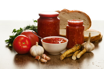 Savory tomato, garlic and horseradish